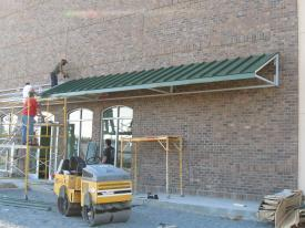 Fabrication u0026 Installation Hartford Green Canopy 2  X 2  X 1/8  Steel Welded Frame width 1  Standing Seam panel. & Metal Clad Industries pitch02